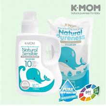 K-Mom USDA Organic Baby Laundry Detergent (1700ml) + Refill Pack (1300