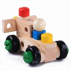 Kids Station 30 Pcs Changeable Nut Building Blocks Car - ETY5823)