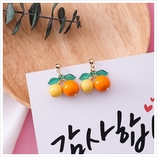 E0408 DANGLE ORANGE EARRING