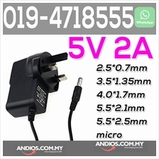 5V 2A AC/DC Power Supply Adapter 3.5 5.5 2.5 cctv led