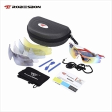 ROBESBON OUTDOOR CYCLING GLASSES UV PROTECTION SUNGLASSES WITH 5 INTERCHANGEAB