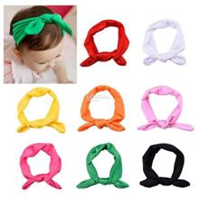 8x Baby Girl Elastic Turban Headbands Head Wrap Rabbit Ear Hair Band