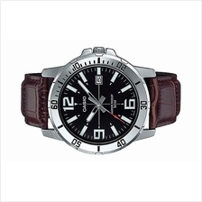 Casio Men Leather Strap Date Watch MTP-VD01L-1BVUDF