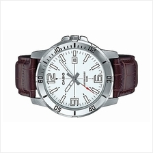 Casio Men Leather Strap Date Watch MTP-VD01L-7BVUDF