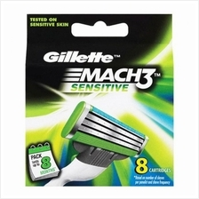 GILLETTE Mach 3 Sensitive Cartridges 8s)