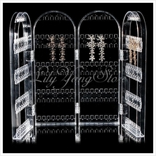 Clear Transparent Acrylic Earring Display Stand Holder Rack Jewellery