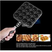 16 Holes Takoyaki Grill Pan Octopus Ball Plate Home Cooking Baking Too
