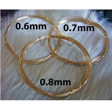 14K Gold Filled Craft Wire Jewelry Findings 0.6mm, 0.7mm 0.8mm