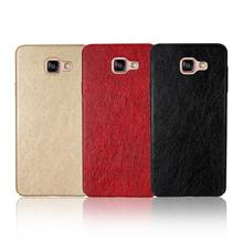Crazy Horse Leather Slim Hard Case for Samsung A3 A5 A7 A8 2016 2017 2