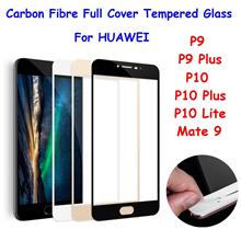 3D Carbon Fibre Full Cover Tempered Glass for Huawei Mate 9 P9 P10 Plu