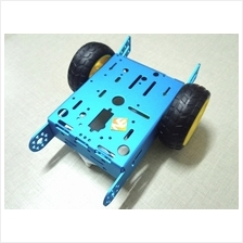 Aluminum 2WD Car Chassis - Blue Smart Robot kit DC Motor Wheels