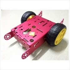 Aluminum 2WD Car Chassis - Red Smart Robot kit DC Motor Wheels
