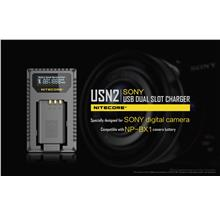 Nitecore USN2 Sony USB Dual Slot Charger for NP-BX1 Batteries