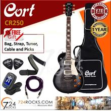 Cort CR250 TBK Trans Black Les Paul CR-Series Electric Guitar