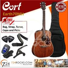 Cort Earth70 Earth Series Solid Top Acoustic Guitar- Natural Gloss Top