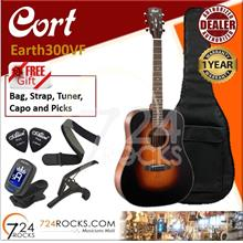 Cort Earth300VF Earth Series Full Solid Dreadnought Body Acoustic Gtr