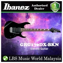 Ibanez GIO GRG170DX-BKN Black Night Solid Body Electric Guitar (GRG170