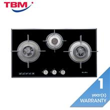 Elba Egh G8593g Bk Gas Hob 3 Burners Tempered Gl With Mirror Edges