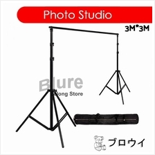Portable Backdrop Photo Shoot Studio 3M x 3M Adjustable Stand 3*3M