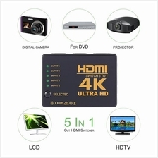 HDMI Switch 5 to 1, 4k Resolution Ultra HD with remote control, IR