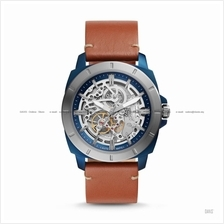 FOSSIL BQ2427 Men's Privateer Sport Automatic Skeleton Leather Brown