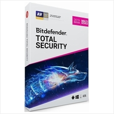 Bitdefender Total Security 2020 - 1 Year 5 Device Windows Mac IOS