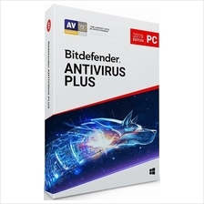 Bitdefender Antivirus Plus 2021 - 1 Year 3 PC Windows 7 8 10 Home Pro