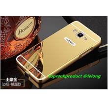 Samsung Galaxy Grand Prime Mirror Metal Bumper Back Case Cover Casing .