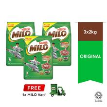 NESTLE MILO ACTIV-GO POWDER 2kg , Buy 3 Free 1 Milo Van)