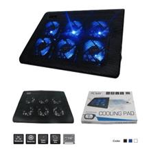 ICUTE COOLER NOTEBOOK PAD 6 LED FAN BLUE (ICC120)