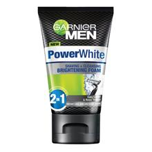 GARNIER MEN Power White Cleanser Shave Foam 50ml