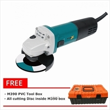 [FREE GIFTS] Mark-X Angle Grinder [100MM] 900Watt Free 1 PVC Tool Box + 11pcs