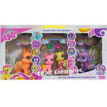4 IN 1 Big & Adorable My Lovely Pony Set Comb My Hair Poney
