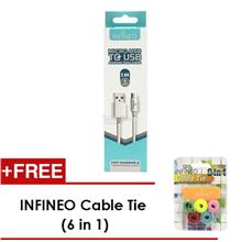 6in1 Cable Tie + Infineo Micro USB to USB Android Data Cable (1Meter)