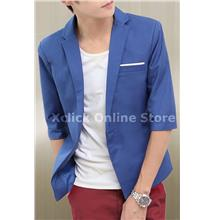 Men coat- Korean Slim short sleeve- Blue