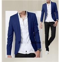 Men Coat- Korean version of casual men- Dark Blue