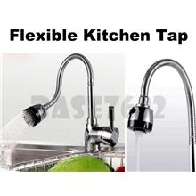 Flexible Swivel Pipe Kitchen Sink Faucet Hot Cold Mixer Water Tap