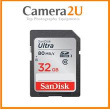 SanDisk Ultra 32GB SD Card SDHC Memory Card 80MB/s