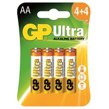 GP ULTRA ALKALINE 15AU 4PCS FREE 4PCS AA BATTERY
