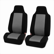 Pair of Car Seat Covers Front for Truck SUV Van (GRAY)