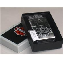 Genuine Zippo Lighter Bar And Shield Crystal Harley Davidson (28349)