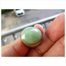 45 CARATS GREEN PEA  COLOR NATURAL NEPHRITE  JADE RING