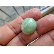 38 CARATS GREEN PEA  COLOR NATURAL NEPHRITE  JADE CAB