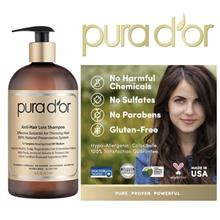 PURA D'OR Anti-Hair Loss Premium GOLD LABEL Shampoo (Pura Dor) USA