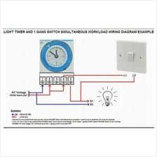 HAGER EH711 24HRS OG WALL MOUNT TIMER SWITCH on