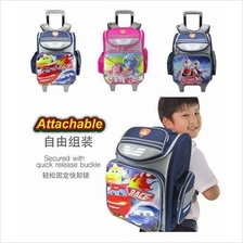Swan Cartoon Innovlite Detachable 10 wheels Trolley School Bag