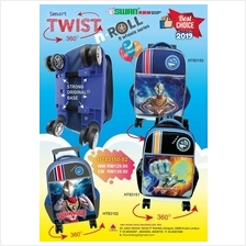Swan Ultraman Twist n Roll Cartoon 8 Wheels Primary Trolley school bag