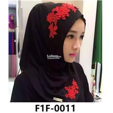 Woman Clothing Shirt Baju Perempuan Black (Red Flower)