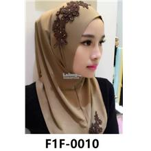 Woman Clothing Shirt Baju Perempuan Light Brown (Dark Brown Flower)