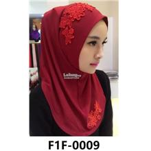 Woman Clothing Shirt Baju Perempuan Dark Red (Flower)
